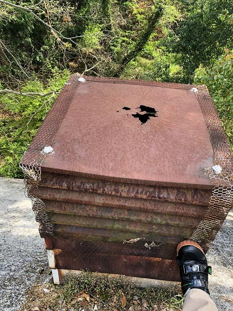 古い薪ストーブと煙突の交換